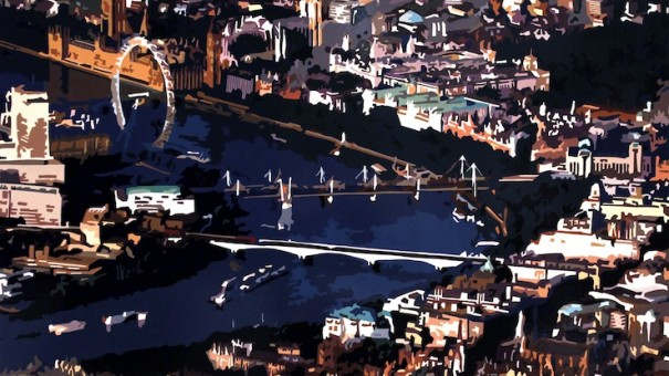 The-River-III-London-2014.-Gloss-paint-on-MDF-122-x-100-cm
