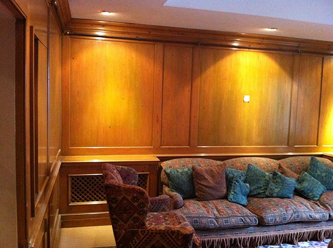 Yellowing Wooden Panelling