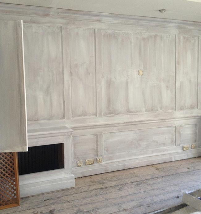 Work In Progress of Painting the Panelling