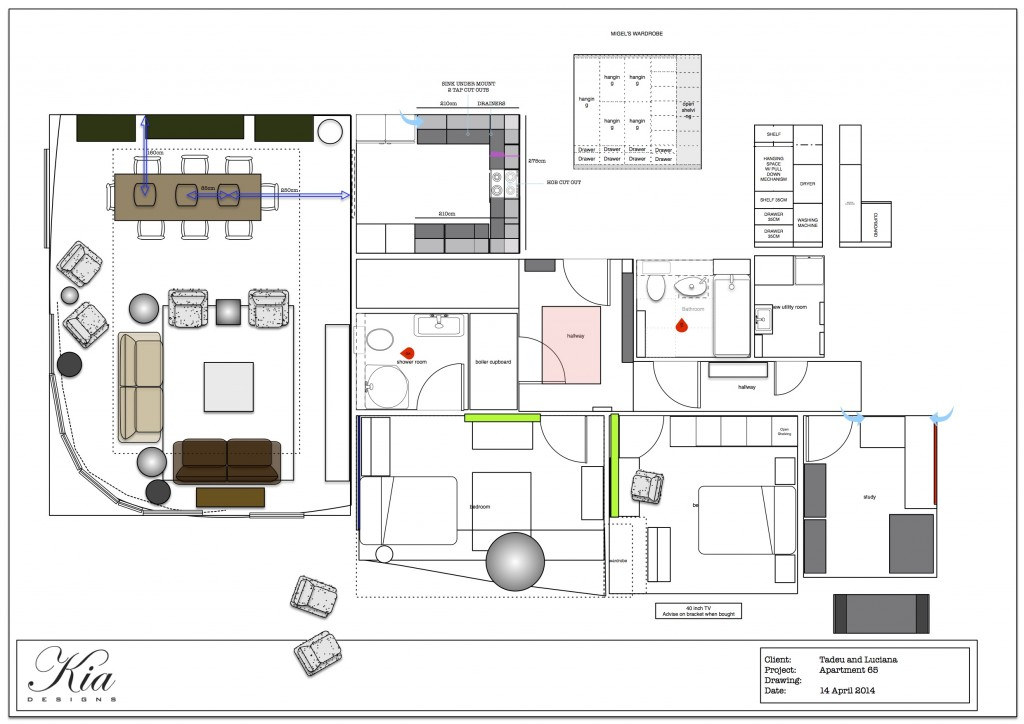 Apartment 65 - Plans - Furniture - Finished