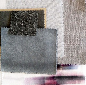 mood board grey fabrics colors
