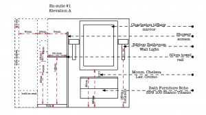 Designing Bathrooms - Elevation A