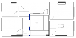 Floor plan exists of a number of unnecessary landing walkways and awkward rooms