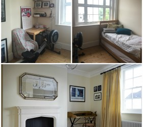 Suite Fire Place and Desk in Regents Park Home - Before and After