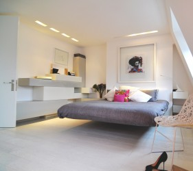 This floating bed in our Notting Hill penthouse has continued to amaze people