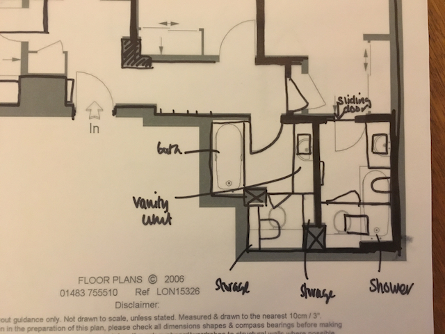 New bathroom layout
