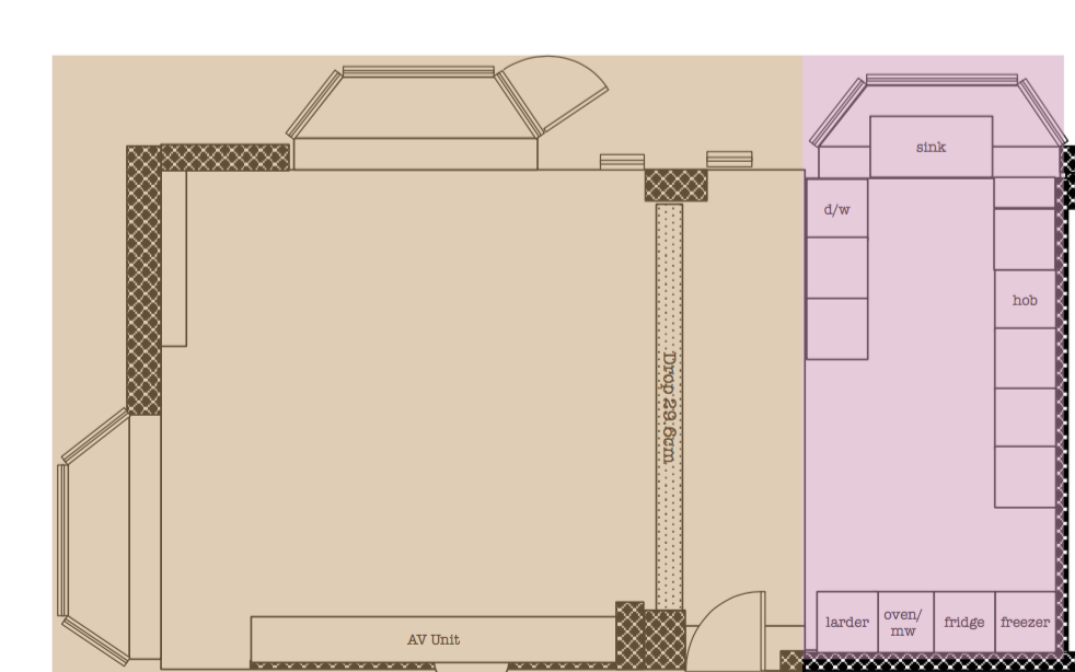 From simple beginnings: The initial layout of the kitchen was beyond simple