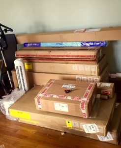 Just a few of the deliveries for one of our projects...